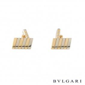 Bvlgari Yellow and White Gold Tubogas Cufflinks
